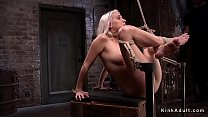 Hogtied gagged blonde made squirting's Thumb