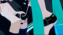 the Slutty loli  and Hatsune Miku ku