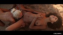 A GIRL KNOWS - Sensual lesbian sex at the beach with latina Luna Corazon