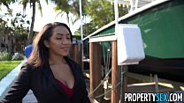 PropertySex - Busty real estate agent uses tits and ass to sell house thumbnail