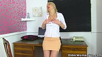 British milf Tracey Lain stretches her arse with a dildo Image