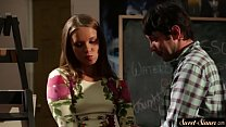 Teen babe banged by her teacher in taboo duo