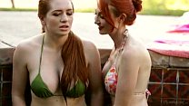 Redhead lesbians at Mommy's Girls