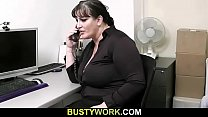 Interview leads to sex with busty chick thumb