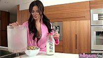 (Shyla Jennings) makes a mess with the milk in the kitchen - Twistys porn thumbnail