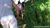 Screenshot College teen s in group cocksucking pov