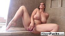 Alison rubs herself to completion in a giant steamy shower - download porn videos