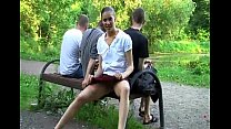 7730 Imbecile young teen Bella teasing open-air preview