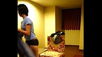 Homemade vid -- Cute Filipina maid Lily strips for action