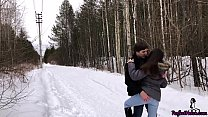 Babe Fantasizes about Teacher and Sex With Him in the Forest
