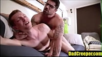 Teen And Daddy Raw Fuck On The Couch  DadCreepe