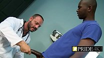 An experienced doctor wknows what such a hunky patient needsp-1