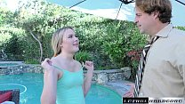 Alyssa Cole begs for Stepdad's cock to fill her tight teen pussy - download porn videos