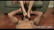 Sexy foot fetisj play with babe fingering while feet licked preview image