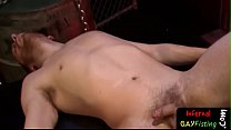 Submissive stud deep fisted by black hunk