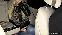 Bursting To Pee In Car, Pretty Girl Coming From Airport Can't Hold It To The End صورة