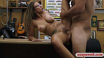 Sexy amateur brunette with glasses pounded by pawn guy thumbnail
