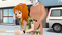 One piece nami doggystyle anal 3D