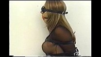 Very cute Andrea Neal is bound, gagged and blindfolded, wearing a sexy outfit preview image