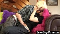 Twink movie of Blonde haired emo fellow Max Brown gives new man a