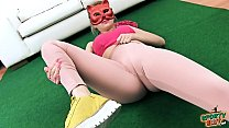 Cameltoe Busty Teen Working Out in Tight Ass Spandex Pants - 9Club.Top