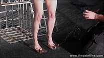 5730 Electro bdsm and feet punishment of slave Elise Graves in dungeon tit torture an preview