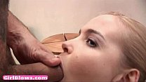 Blonde euro teen slurp penis