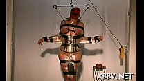 Tied up woman coercive to endure severe bdsm xxx moments