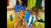 Sexy Lesbian Soccer Players Relaxing After a Hard Practice