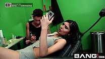 BANG Confessions Busty Asian Brenna climax getting a tattoo video