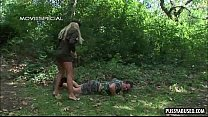 Blonde Army Babe Sucking On A Hard Cock Outdoors