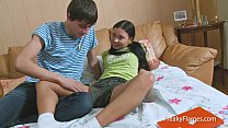 Young tiny stepsister blowjob for fat cock so s...