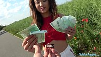 6698 Public Agent Sexy Spanish beauty fucked in a field for cash preview