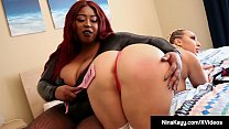 Screenshot Nympho Nina Kayy Gets Pussy Fucked By Ebony Bbw