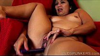 Super sexy MILF fucks her soaking wet pussy just for you thumbnail