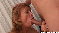 Image: Grandma wants your cum on her old tits