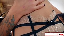 Jessa Rhodes loves two fat cocks and she gets filled in all her holes thumbnail