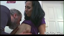 Cute young girl fucked by old guy thumb