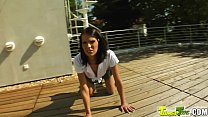 Tamed Teens Tall slender Queenie has daily requirement of cum