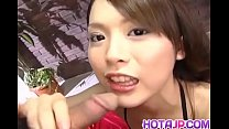 Yuri Kousaka young Asian babe places dick in her mouth - More at hotajp com