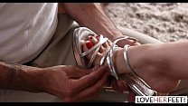 LoveHerFeet - Busty Angela White's Hottest Foot Fetish Session Image