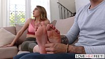 LoveHerFeet - Sucking And Foot Fucking My Super...'s Thumb