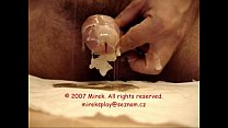 Toothpick foreskin play piercing and waxplay - self CBT
