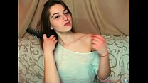teen slut sister shows her small breasts on the webcam صورة
