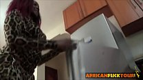 African Booty Drilled Hard In the Kitchen Image