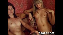 Two euro chicks put on a show