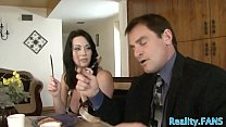 Busty milf banged by fat prick thumbnail