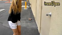 www.hentaidreams.club - Blond girl female desperation & peeing her panties thumbnail
