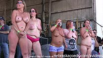 Image: milfy chicks with big ole tits stripping down in an iowa biker rally