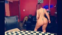 Latina Redhead Blowjob Showing Off Lingerie